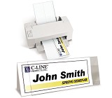 C-Line Products Inkjet/Laser Name Tents & Holders
