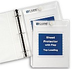 Top LoadSheet Protector With Hook and Loop Flap