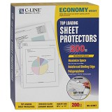 C-Line Products Economy Weight Polypropylene Sheet Protectors