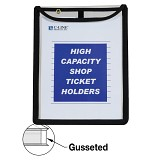 C-Line Products High Capacity Stitched Shop Ticket Holder