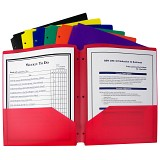 C-Line Products Two-Pocket Poly Portfolio with Three-Hole Punch