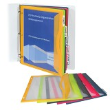 C-Line Products Binder Pocket with Write-on Index Tabs