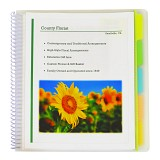 C-Line Products 10-Pocket Poly Portfolio with Write-On Tabs