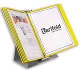 Tarifold Desktop Organizer - Yellow Pockets