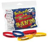 Alliance Rubber School Reward Bracelets