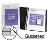 Super Capacity Sheet Protector With Tuck-In Flap