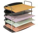 Buddy Products Trio 5 Pocket Horizontal Desk Tray