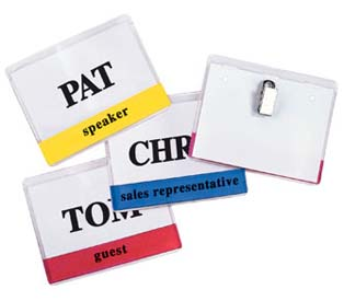 Color Coded Clip Style Badge Holders :  style badge color coded clip holders