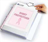 Pink Ribbon Sheet Protector