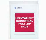C-Line Products Heavyweight Industrial Poly Zip Bags