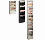 Buddy Products Eclipse Line Curved Steel Literature Racks