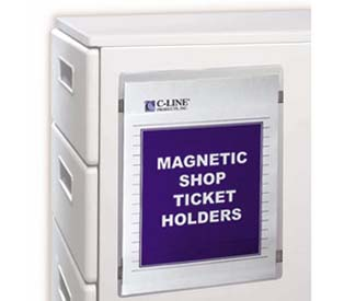 Magnetic Shop Ticket Holders :  shop ticket magnetic holders