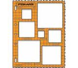 Fiskars ShapeTemplate Tool - Squares - 1 w/Deckle Border