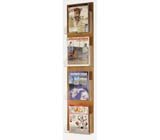 Buddy Products Princeton Line Wood Back/Acrylic Pocket Magazine Rack - Buddy Products