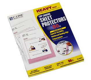 Heavyweight Polypropylene Sheet Protectors C Line