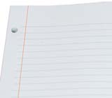 Kleer-fax Tare-Shield Reinforced Paper, Ruled Red Margin