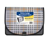 C-Line Products Extra Large Document Case - Plaid Design