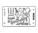Fiskars Mini ShapeBoss Stencil Set - Birthday Wishes