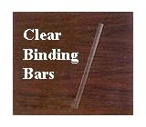 <font color=red>C-Line Products Clear Binding Bar Only</font>