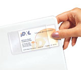 C-Line Products Self-Adhesive Business Card Holders