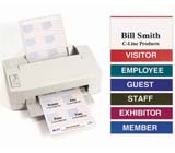 C-Line Products Inkjet/Laser Printer Name Badge Inserts