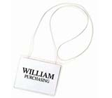 C-Line Products Hanging Style Name Badges - Elastic Cord
