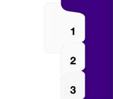 Kleer-fax 80000 Series Avery® Style Numbers Collated Sets Side Tabs, Letter Size