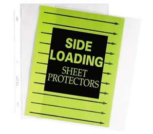 Side Loading Sheet Protectors C Line Products