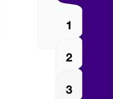 Kleer-fax 90000 Series All-State® Style Numbers Collated Sets Side Tabs, Letter Size