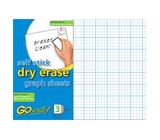 GoWrite Self Stick Dry Erase Graph Paper Sheets