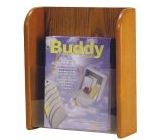 Buddy Products Oak/Acrylic Single Pocket Literature Organizer
