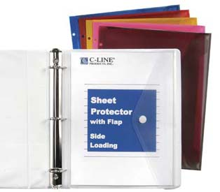 Side Load Sheet Protector With Velcro 174 Flap C Line
