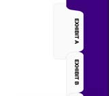 Kleer-fax 80000 Series Avery® Style Exhibit Letters Collated Sets Side Tabs, Letter Size