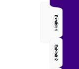 Kleer-fax 90000 Series All-State® Style Exhibit Numbers Collated Sets Side Tabs, Letter Size