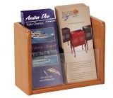 Buddy Products Oak/Acrylic Single Pocket Lit/Brochure Holder