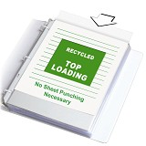 Recycled Topper� sheet protectors