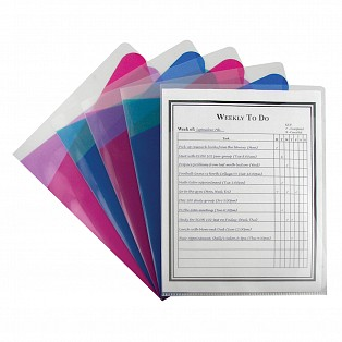 C-Line Products Multi-Section Project Folders, Clear Folders with Colored Dividers
