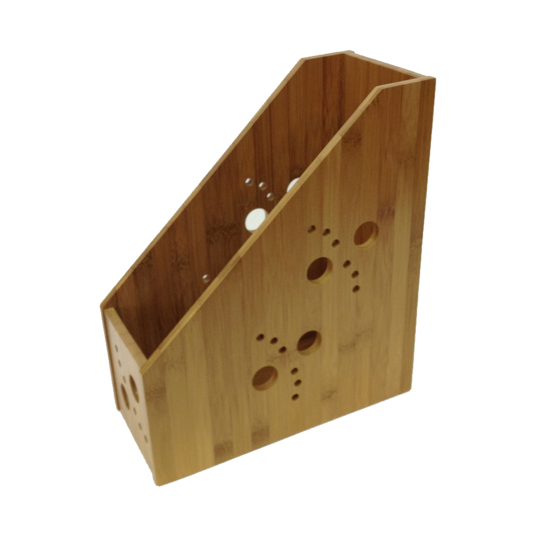 Buddy Products Bamboo Magazine File