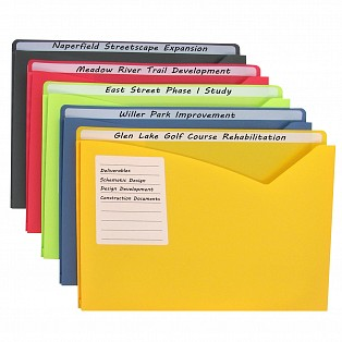C-Line Products Write-on Poly File Jackets, Assorted