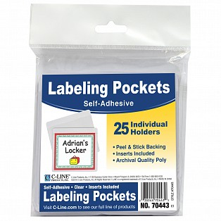 C-Line Products Self-Adhesive Labeling Pockets