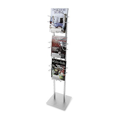 Buddy Products Three Pocket Magazine Displayer