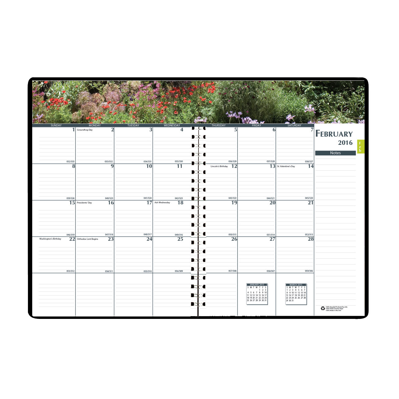House of Doolittle Earthscapes Gardens of the World Weekly/Monthly Planner