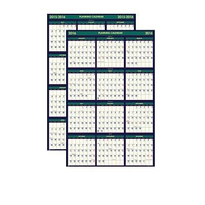 House of Doolittle Four Seasons Reversible 18 Month Write-On/Wipe-Off Wall Planner