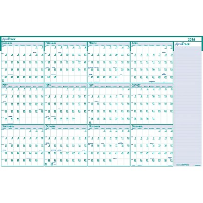 House of Doolittle ExpressTrack Laminated Yearly Wall Planner