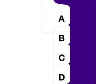 Kleer-fax 80000 Series Avery Style Letters Collated Sets Side Tabs