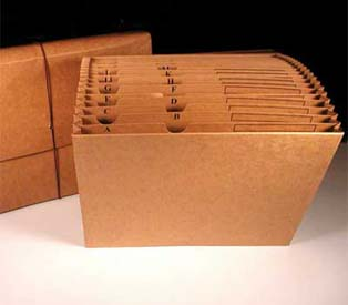 Kleer-fax Vertical Files Paper with Flap and Elastic Closure