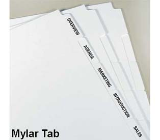 Kleer-fax MAK-UR-OWN Xerographic Indexes, Mylar Tab