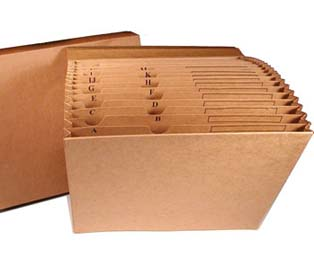 Kleer-fax Vertical Files Paper with Flap