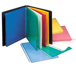 C-Line Products Colored Sheet Protectors Polypropylene