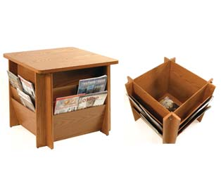 Buddy Products Table with Literature Rack
